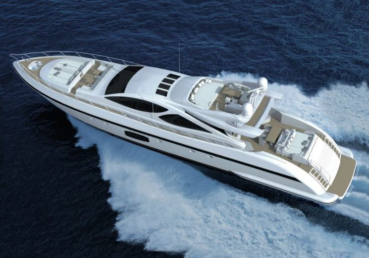 ПРЕМЬЕРА СУПЕРЯХТЫ MANGUSTA 110 НА MIAMI INTERNATIONAL BOAT SHOW 2014